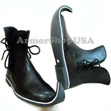 Medieval Leather Shoes, Fancy Halloween Pirate Shoe Ankle Shoe Gothic Mens Boots