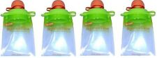4 PACK BOOGINHEAD SQUEEZEMS TRAVEL EASY FILL SAFE BPA FREE REUSABLE FOOD POUCHES