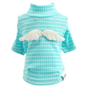 Pet Dog Cat Clothes Blue Small Dogs Apparel Teddy Chihuahua Poodle Soft Shirt