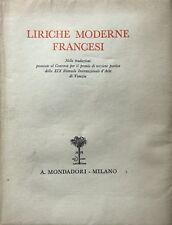 LIRICHE MODERNE FRANCESI TRADUZIONI PREMIATE CONCORSO XIX BIENNALE VENEZIA