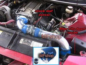 Blue 3PC For 1994-1997 Chevy Camaro Z28 Pontiac Firebird 5.7L V8 Cold Air Intake