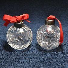 1991 Royal Doulton Cut Crystal Christmas Tree Ball Ornament 0120!
