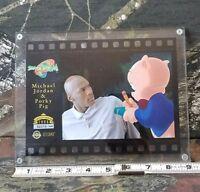 Vintage Space Jam Animation Cel 1996 Upper Deck Celcard Jordan N Porky Pig DH