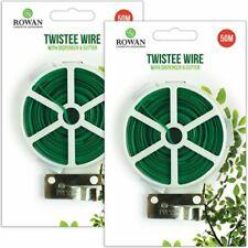 50m Flexible Garden Twist Tie Plant Bush Wire Cutter Guillotine Dispenser Line