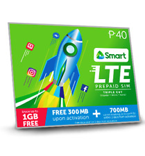 Smart LTE Prepaid Triple Cut SIM Card With Free 300MB & 700MB