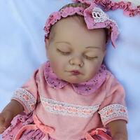 "20"" Full Body Silicone Vinyl Waterproof Reborn Dolls Girl Anatomically Correct"
