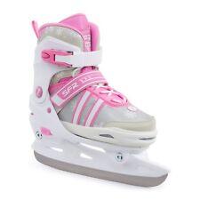 SFR Nova Adjustable Ice Skates - White/Pink