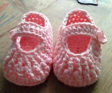 Patucos Zapatos Rosa 0/3 Meses Zapato Recién Nacido Algodón Nuevo Artesanal Bebe
