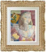 ODINE ROLANDO (1933-2020) // SUPERBE PORTRAIT DE FEMME CUBISANT (50)