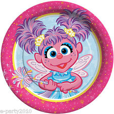ABBY CADABBY SMALL PAPER PLATES (8) ~ Birthday Party Supplies Cake Sesame Street