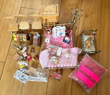 Mixed lot of Vintage and Other Dollhouse Furniture and Accessories