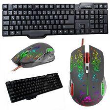 Gaming Set Gamer Tastatur USB Maus Computer PC Spiele Zocker qwertz deutsch WOW