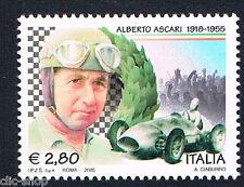 ITALIA 1 FRANCOBOLLO ALBERTO ASCARI AUTO 2005 nuovo**
