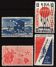 Scott C53-C56  Used Airmail 1959 Commemoratives Stamps