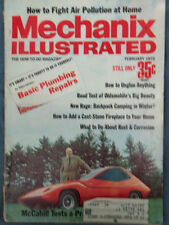 Mechanix Illustrated Mag, Olds Test, Cast-Stone Fireplace, Feb. 1972
