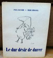 Marc Chagall Original LITHOGRAPH Numbered Le Dur Desir De Durer 1950 French ED
