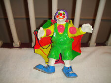 Paper Mache Clown W/Parachute-Made In Mexico-Bright Colors-Large Figure-LOOK