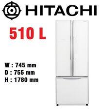 HITACHI 510L French Door Fridge Refrigerator Inverter Dual Fan Tech White Glass