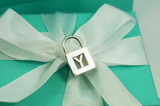 """AUTHENTIC Tiffany & Co. Sterling Silver Alphabet """"Y"""" Padlock Pendant (#F380)"""