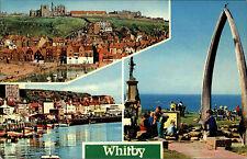 Whitby North Yorkshire Great Britain AK ~ 1960/70 Harbour capitano Cook statua tra l'altro