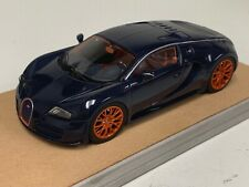 1/43 Looksmart Bugatti Veyron Super Sport Carbon Blue custom Base A2008
