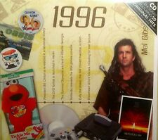 22nd BIRTHDAY or ANNIVERSARY GIFT - 1996 Compilatio Pop CD & Year Greeting Card