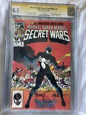 Secret Wars #8 CGC 8.5 Signed Michael Zeck. + Secret Wars 2015 Run. Spider-Man