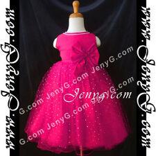 Robes soirées rouges en polyester pour fille de 2 à 16 ans