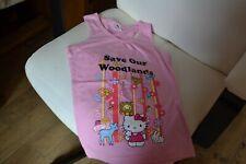 tee shirt neuf hello kitty 10 ans rose sans manches les animaux avec hello