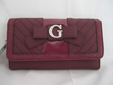 Guess Belicia SLG Checkbook Wallet Ruby  Style # VY357638  NEW