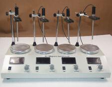 4 Station Magnetic Stirrer Hotplate Stirrers Laboratory Agitator Heater