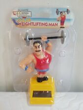 Solar Power Dancing Weightlifters Bobblehead Toys New Free Shipping one Day Red