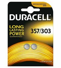 2Duracell Electronics 357/303 1.5 V Silver Oxide Button Cell Batteries(2018)