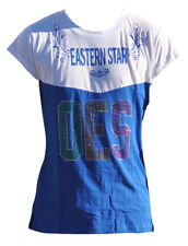 Order of the Eastern Star OES Rhinestone T-Shirt- Size Large–New!