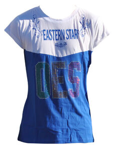 Order of the Eastern Star OES Rhinestone T-Shirt- Size Small–New!