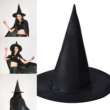Chic Adult Womens Witch Hat For Halloween Party Costume Accessory Cap Bla SALE