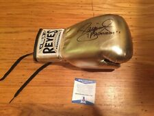Manny Pacquiao Signed Autograph Gold Glove Beckett Authentication