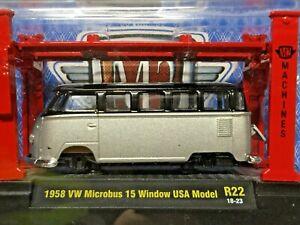 M2 1958 Volkswagen Microbus 15 Window USA Model Kit R22 18-23 Kombi FREE STICKER