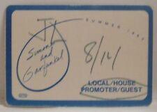PAUL SIMON AND ART GARFUNKEL VINTAGE ORIGINAL TOUR CLOTH BACKSTAGE PASS *LAST 1
