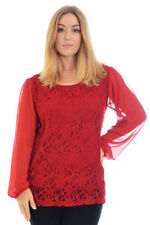 Lace Tunic Machine Washable Plus Size Tops for Women