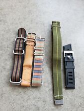 leather, rubber, canvas strap 22 mm watch bands: nylon,
