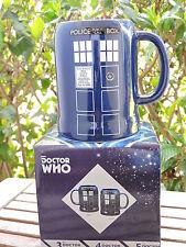 Doctor Who TARDIS 20 oz. Ceramic Stein Police Box Mug in Gift Box Vandor NEW