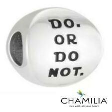 Genuine Chamilia 925 Star Wars Do or do not  bracelet charm