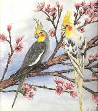 My Cockatiels print by artist Audrey Hughes Bell  AHB Studio limited edtion