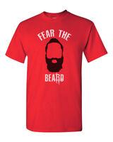 Fear The Beard James Harden Rockets Custom Mens Gildan T-Shirt Tee Brand New