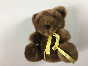 """Thoughtfulness Bear VTG 1984 Plush CM Paula 80s Stuffed Small 7"""" Stuffed Teddy"""