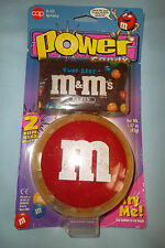 Vintage Power Candy Red M&M Clip On Belt Candy Dispenser Battery Operated