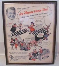VINTAGE FRAMED KLEENEX TISSUE AD WITH ARTHUR GODFREY AND LITTLE LULU
