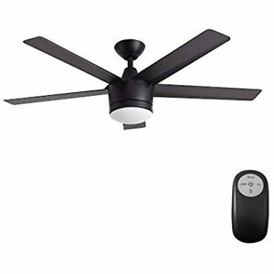 """Home Decorators Collection Merwry LED 52"""" Indoor Ceiling Fan (Black)"""