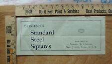 sargent standard steel squares brochure